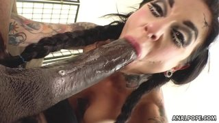 Dirty whore with stretched Asshole squirts on BBC